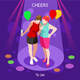 Team Party 05 People Isometric - GraphicRiver Item for Sale