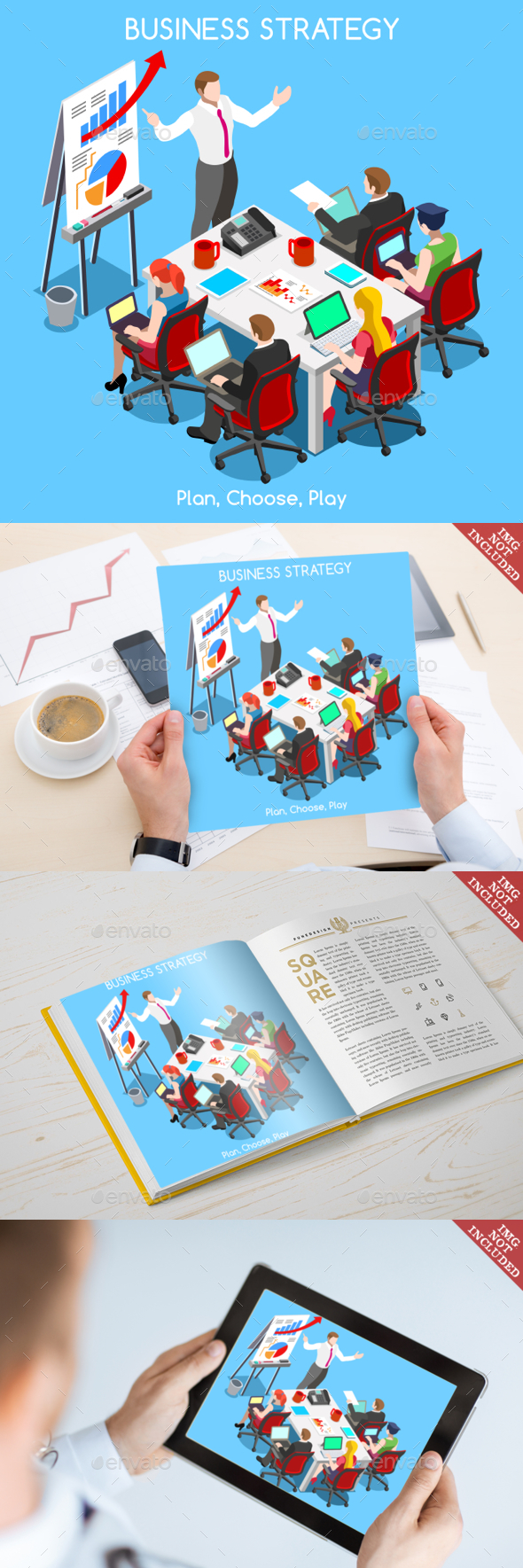 Business 07 People Isometric - Business Conceptual