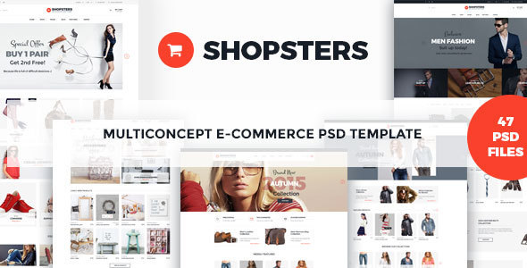 Shopsters – Multiconcept E-commerce PSD Template