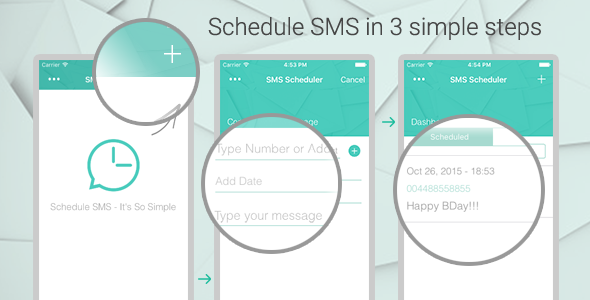 iOS SMS Scheduler - CodeCanyon Item for Sale