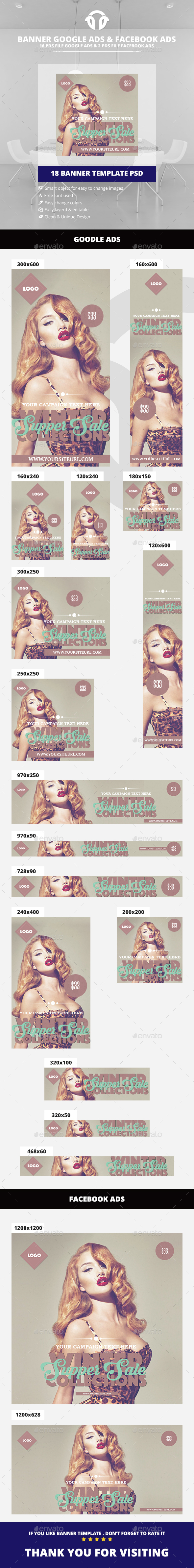 Vintage / Retro Fashion Ads - Banners & Ads Web Elements