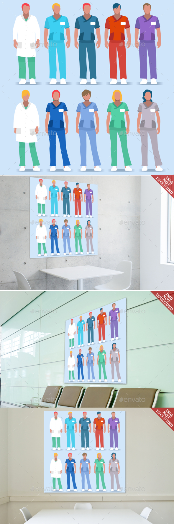 Hospital 01 People 2D - Health/Medicine Conceptual