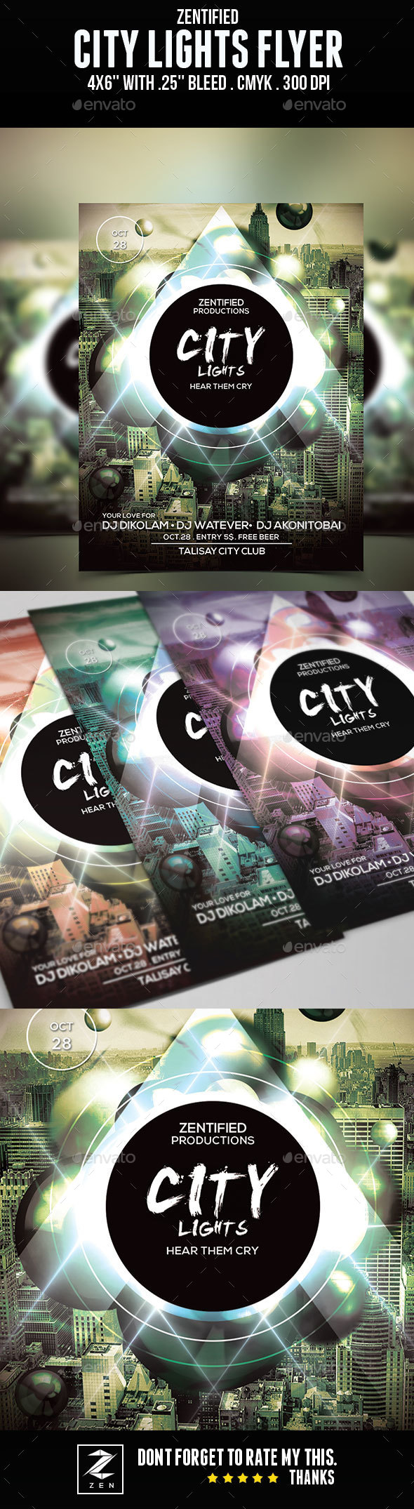 City Lights Flyer - Clubs & Parties Events
