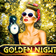 Golden Night Flyer  - GraphicRiver Item for Sale