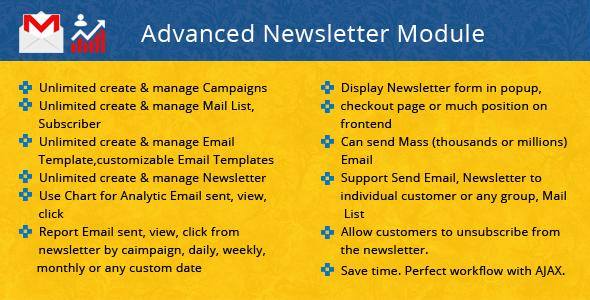 PrestaShop Advanced Newsletter - Prestashop Email Marketing Module (include Popup) - CodeCanyon Item for Sale
