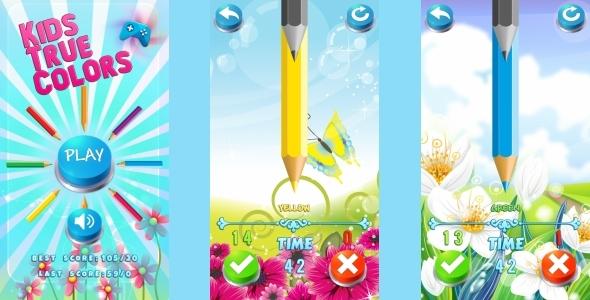 Kids True Color - HTML5 Mobile Game (Construct 3 | Construct 2 | Capx) - CodeCanyon Item for Sale