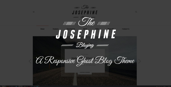 Josephine – A Responsive Ghost Blog Theme
