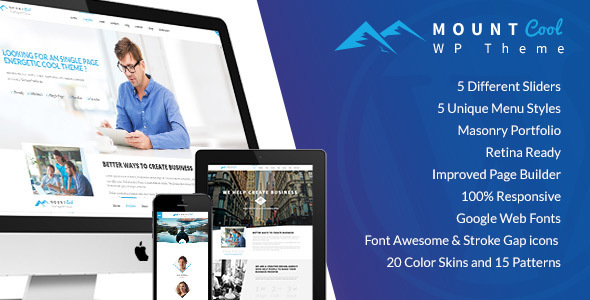 Mountcool – One Page Multipurpose WordPress Theme