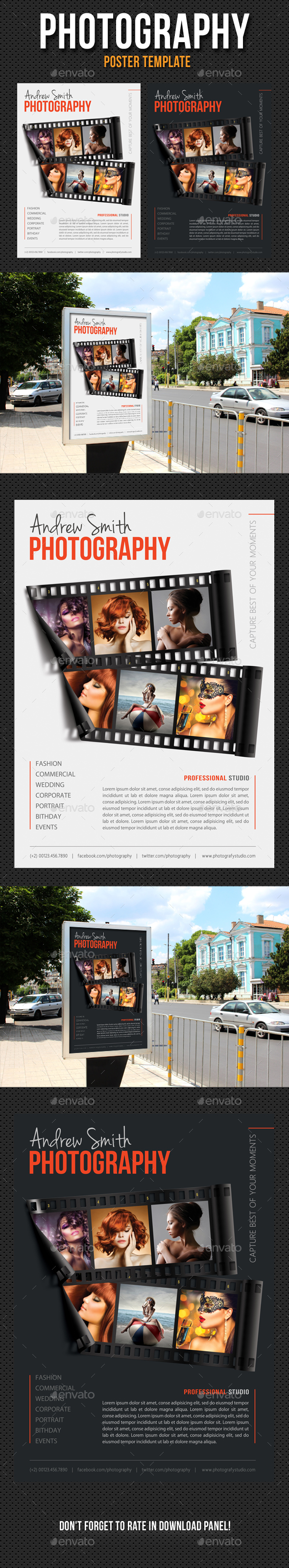 Photography Poster Template V09 - Signage Print Templates
