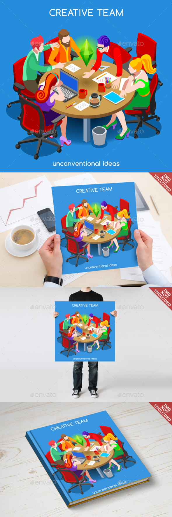 Business 10 People Isometric - Concepts Business