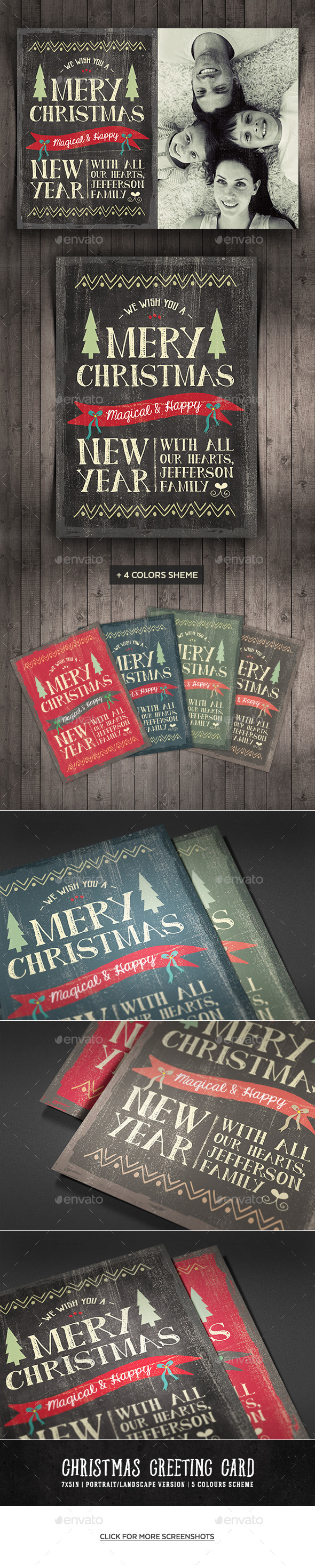 Vintage Christmas Greeting Card - Holiday Greeting Cards