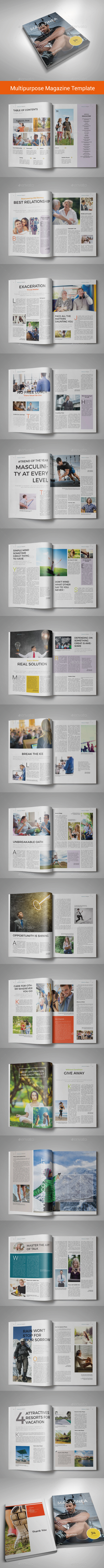 34 Pgs | Indesign Multipurpose Magazine 11 - Magazines Print Templates
