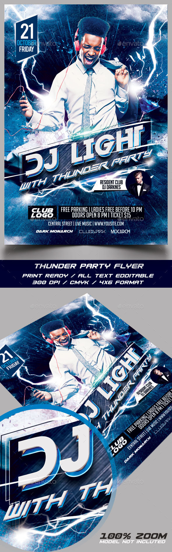 Thunder Party with Guest DJ - Events Flyers
