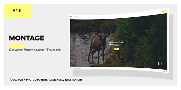 Montage -  Photography Responsive Template - Photography Creative