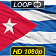 Isolated Waving National Flag of Cuba - VideoHive Item for Sale
