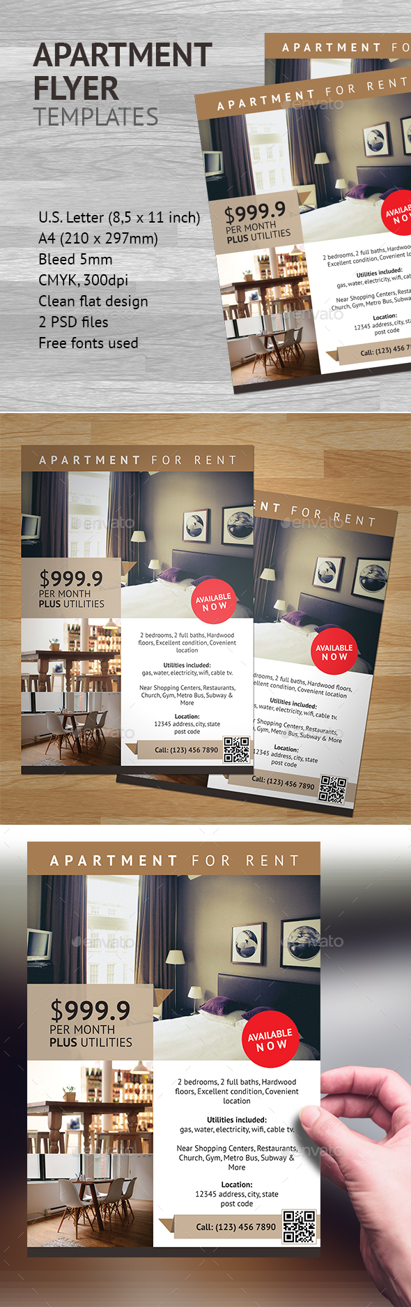 Apartment Flyer Template 1 - Commerce Flyers