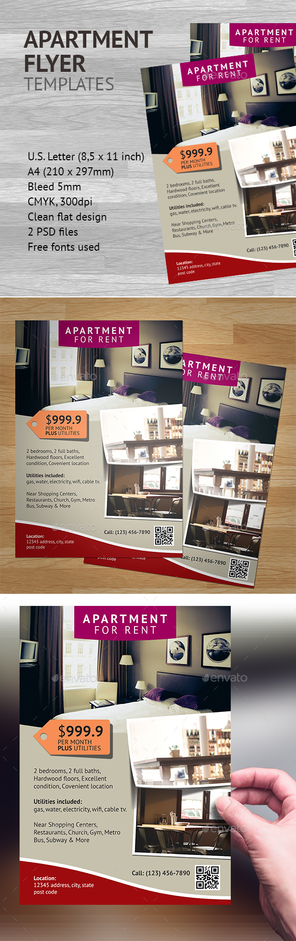 Apartment Flyer Template 2 - Commerce Flyers