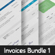 Professional Invoice Templates Bundle 1 - GraphicRiver Item for Sale