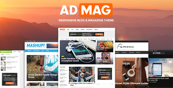ADMAG – Responsive Blog & Magazine Theme