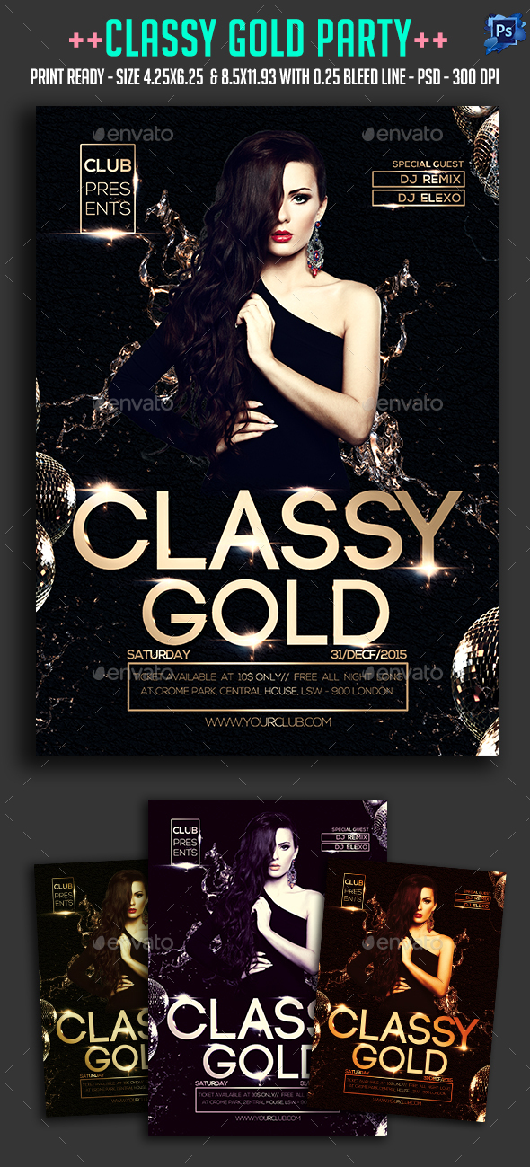 Classy Gold Party - Clubs & Parties Events