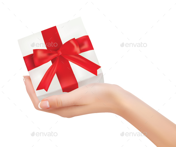 Gift Box in Hand - Christmas Seasons/Holidays