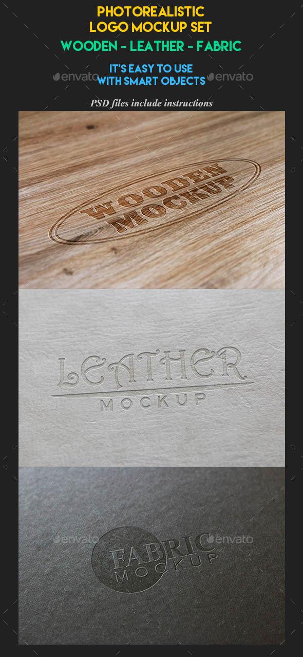 Photorealistic Logo Mockup Set - Product Mock-Ups Graphics