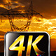 High-voltage Transmission Line Sunset - VideoHive Item for Sale