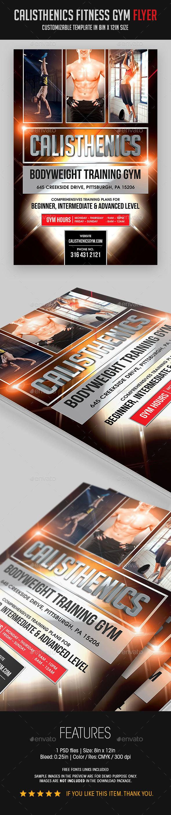 Calisthenics Fitness Gym Flyer - Sports Events