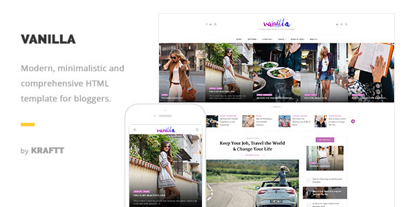 Vanilla – Responsive HTML Template for Bloggers