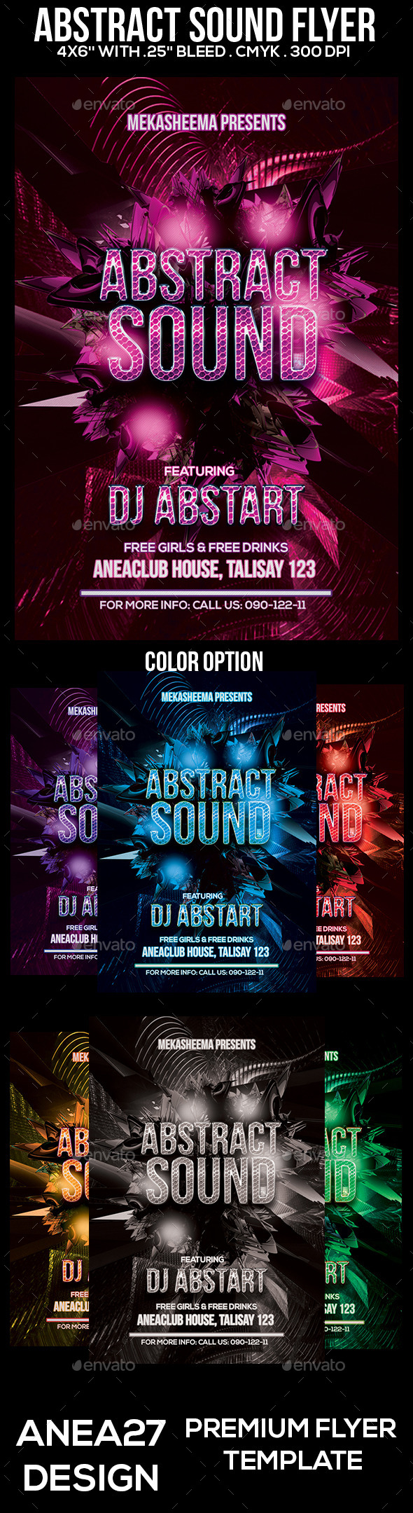Abstract Sound Flyer - Clubs & Parties Events