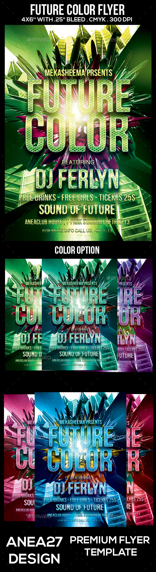 Future Color Flyer - Clubs & Parties Events