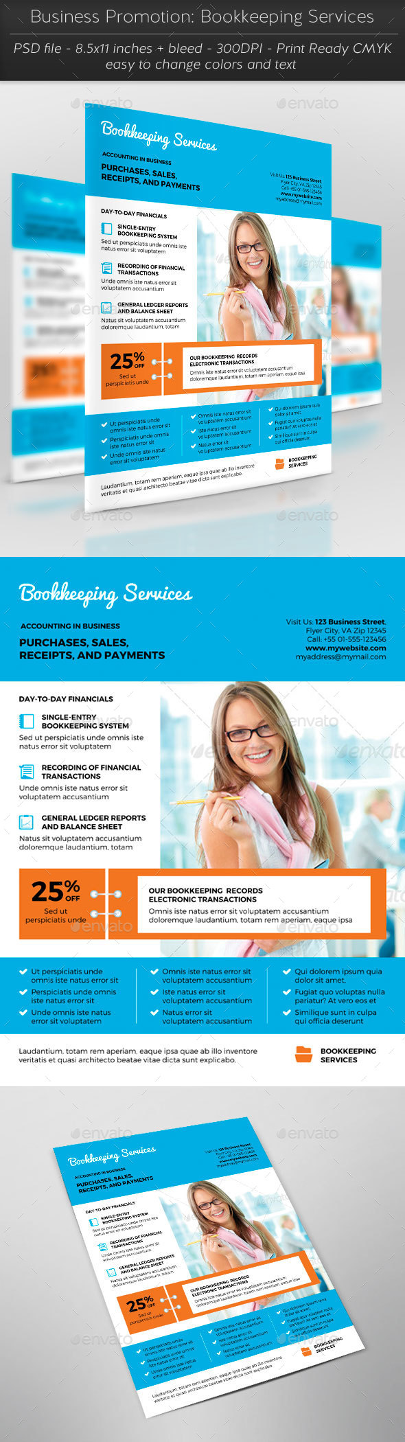 Business Promotion: Bookkeeping Services - Corporate Flyers