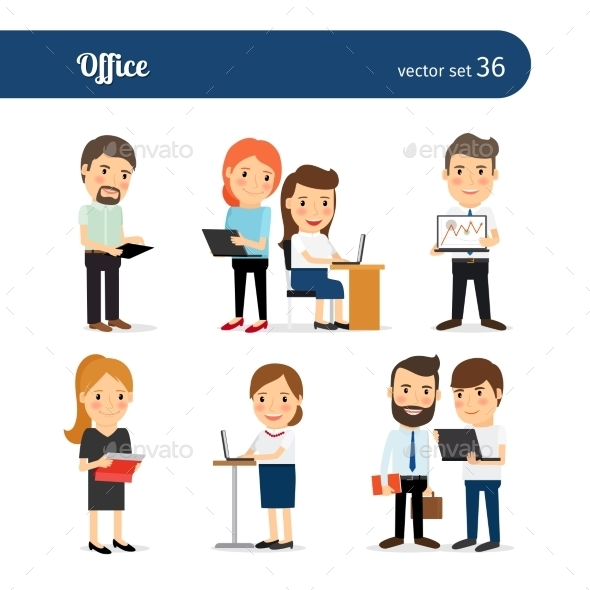 Office People Set - People Characters