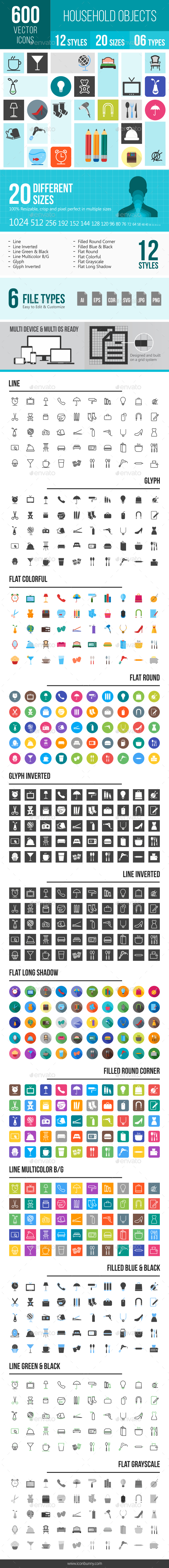 Household Objects Icons - Icons