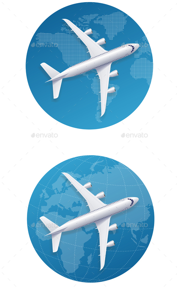 Airplane Travel Concept. Vector - Travel Conceptual