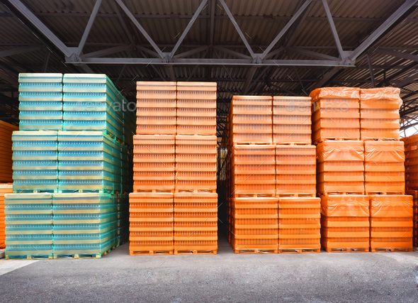 Warehouse with boxes - Stock Photo - Images