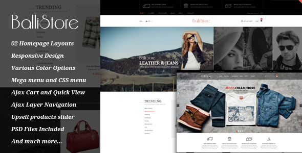 Ballishop – Multipurpose Magento Theme