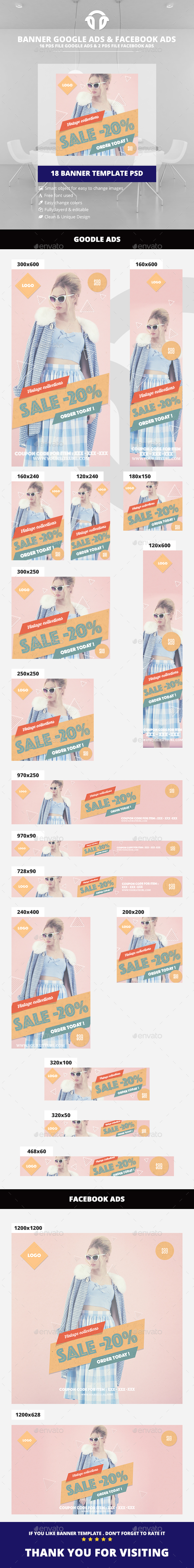 Retro / Vintage Fashion Ad - Banners & Ads Web Elements