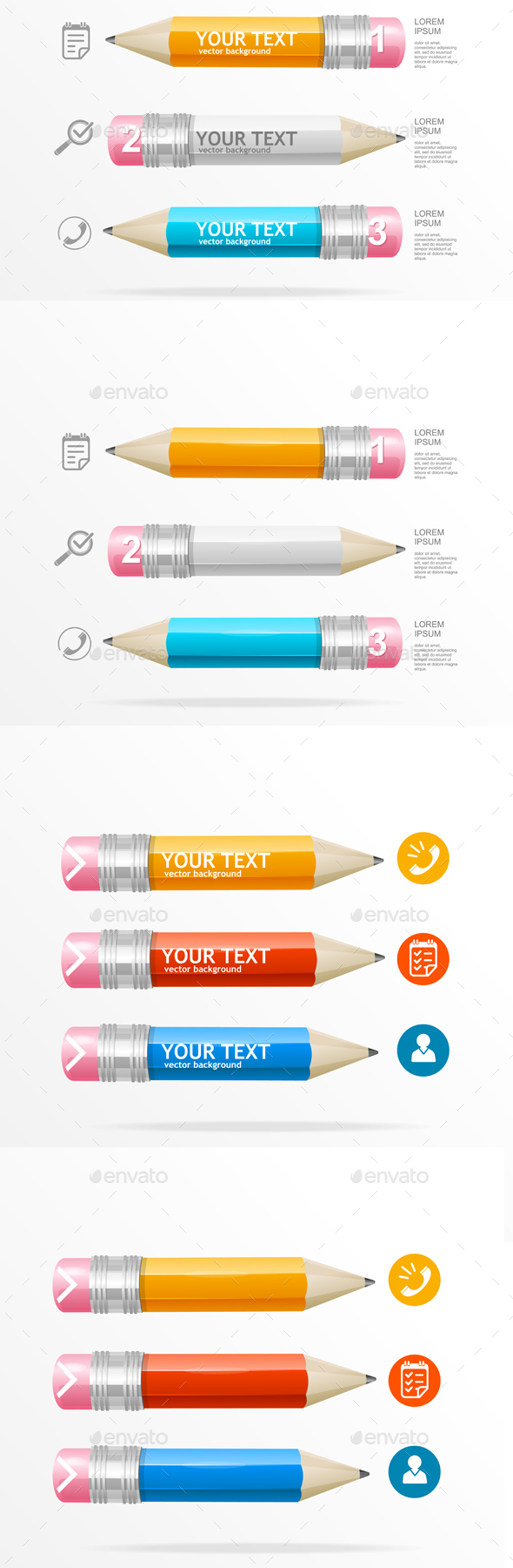 Infographics Icon and Pencil. Vector - Concepts Business