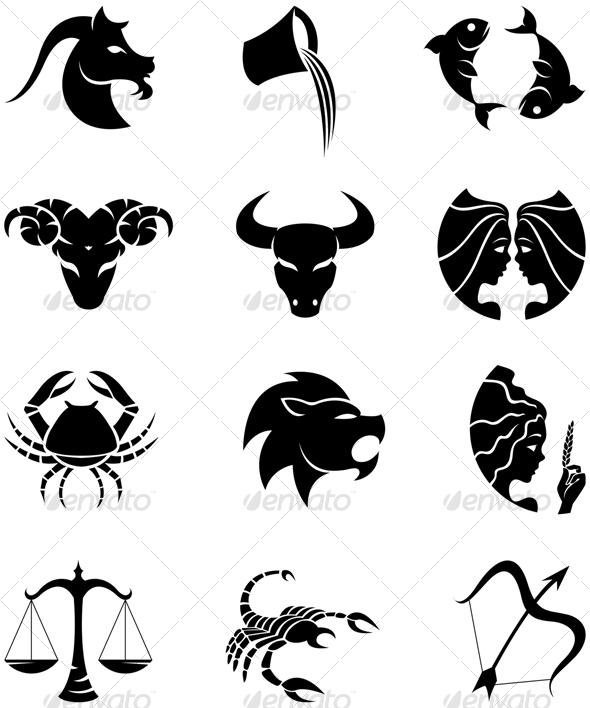 zodiac silhouettes - Miscellaneous Icons