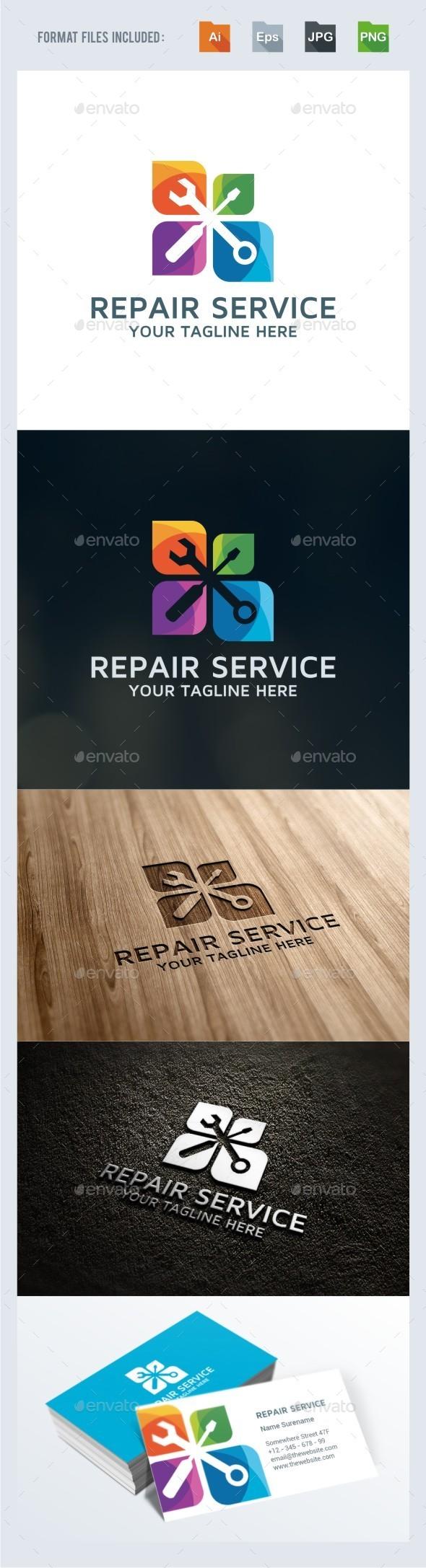 Repair Services Logo Template - Vector Abstract