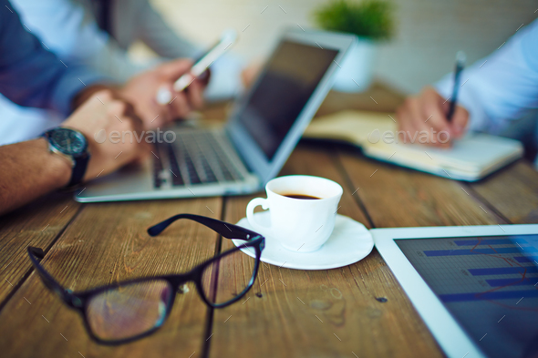 Coffee and eyeglasses - Stock Photo - Images