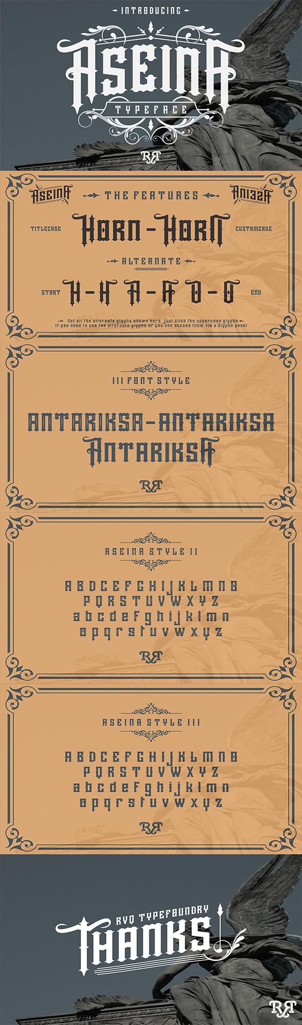 Aseina typeface - Fonts