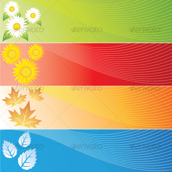 four seasons banners - Backgrounds Decorative