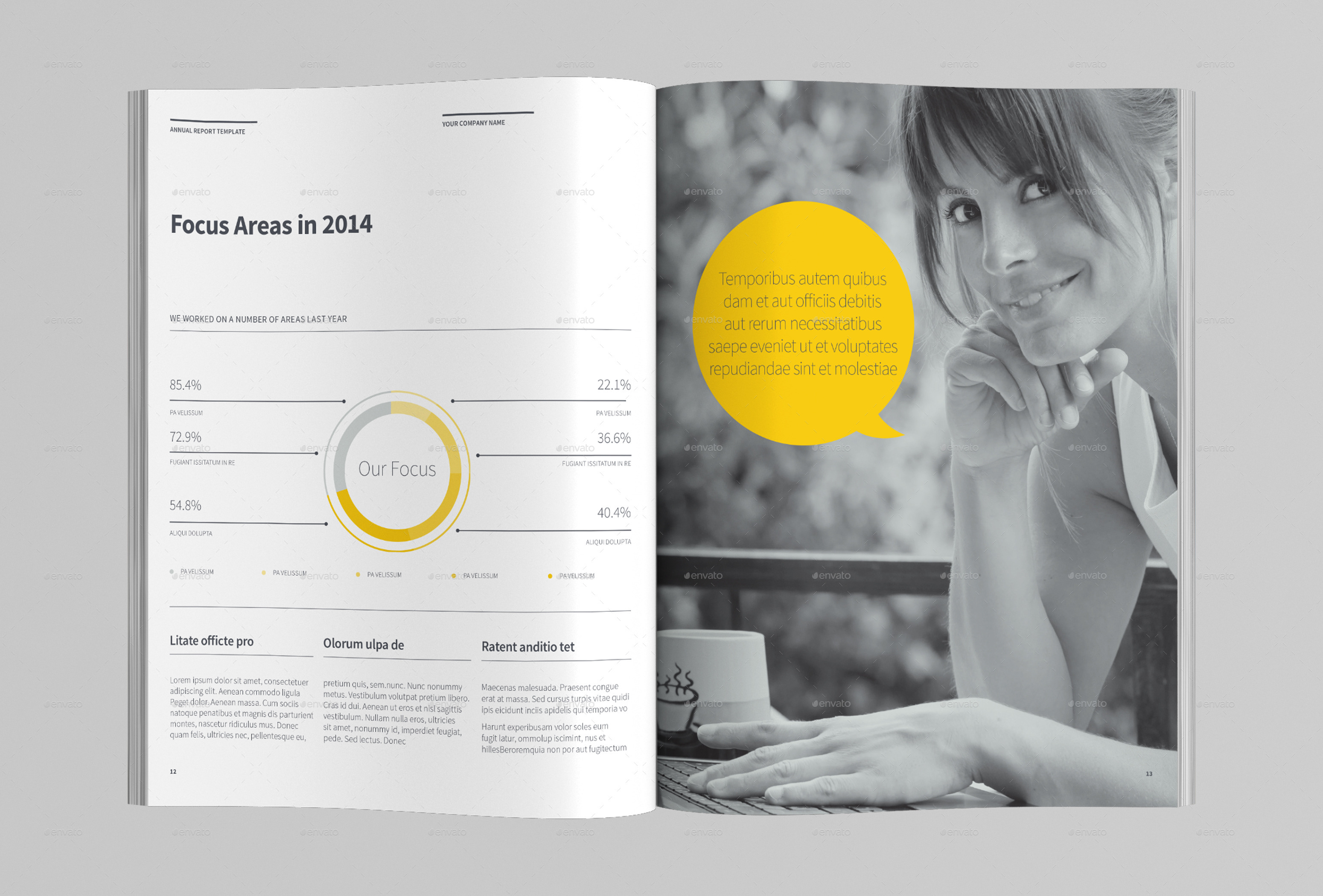 Annual Report Template by AzyWorks | GraphicRiver