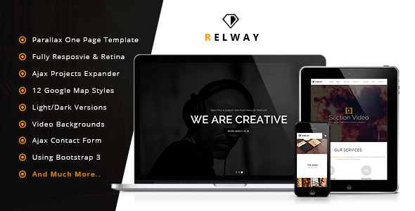 Relway - Responsive Parallax One Page Template by zoom-arts