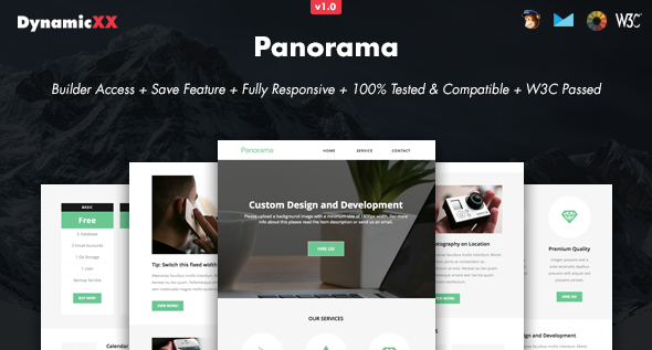 Panorama – Responsive Email + Online Builder
