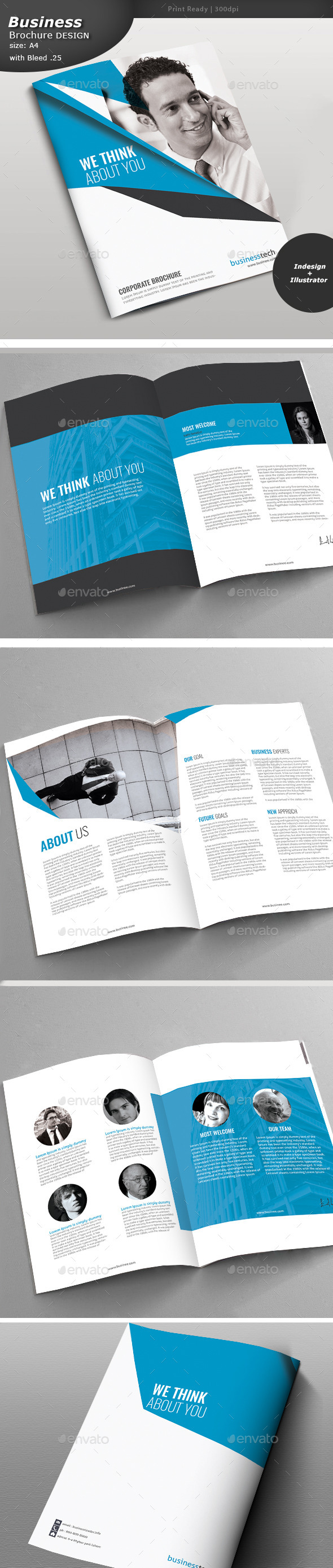 Business Brochure Double Sided  - Brochures Print Templates