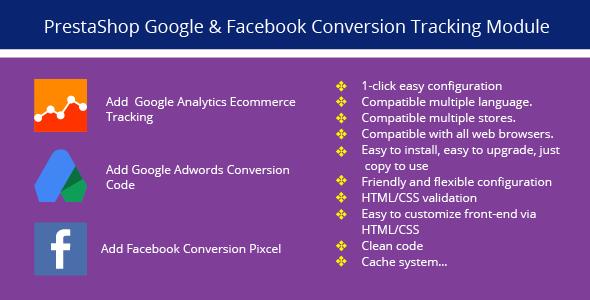 PrestaShop Google & Facebook Conversion Tracking - CodeCanyon Item for Sale