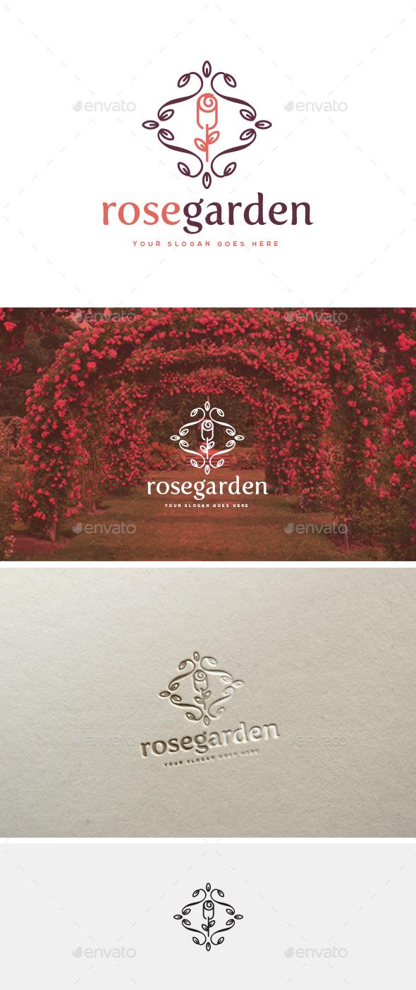 Rose Garden Logo Template - Logo Templates